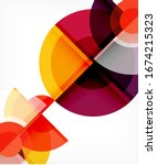 abstract background  circle and ... | Shutterstock .eps vector #1674215323