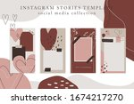 trendy color palette  spring... | Shutterstock .eps vector #1674217270