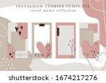 trendy color palette  spring... | Shutterstock .eps vector #1674217276
