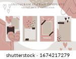 trendy color palette  spring... | Shutterstock .eps vector #1674217279