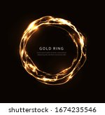 abstract lightning ring with... | Shutterstock .eps vector #1674235546