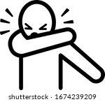 virus prevention cough sneeze... | Shutterstock .eps vector #1674239209
