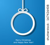 modern xmas greeting card with... | Shutterstock . vector #167426408