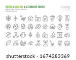 simple set of eco vector thin... | Shutterstock .eps vector #1674283369