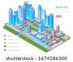 smart city megalopolis...   Shutterstock .eps vector #1674286300