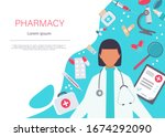 pharmacy vector elements. a... | Shutterstock .eps vector #1674292090