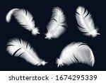 Isolated White Feathers Set....