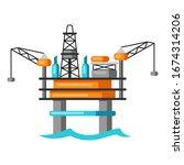 illustration of oil sea... | Shutterstock .eps vector #1674314206