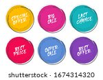 set of grunge circles with... | Shutterstock .eps vector #1674314320