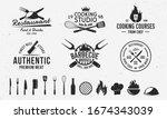vintage hipster logo templates... | Shutterstock .eps vector #1674343039
