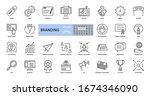 branding icons. set of 29... | Shutterstock .eps vector #1674346090