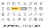 vector checkmark icons. set of... | Shutterstock .eps vector #1674346096