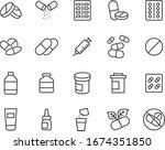 set of medicine icons  pharmacy ... | Shutterstock .eps vector #1674351850