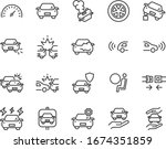 set of car icons  accident ... | Shutterstock .eps vector #1674351859