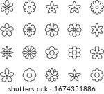 set of flower icons  floral ... | Shutterstock .eps vector #1674351886