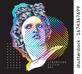 minimalistic bright colored... | Shutterstock .eps vector #1674367699