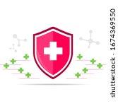 vector icon of the immune... | Shutterstock .eps vector #1674369550