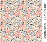 vector seamless pattern. pretty ... | Shutterstock .eps vector #1674378100