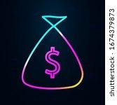 money bag in nolan style icon....