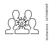 coronavirus vector illustration....   Shutterstock .eps vector #1674380569