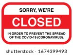 """sorry  we're closed"" due to... 