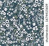 vintage floral background.... | Shutterstock .eps vector #1674415609