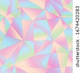 abstract pastel color triangle... | Shutterstock . vector #1674420283