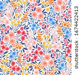 vector seamless pattern. pretty ...   Shutterstock .eps vector #1674422413