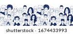 adult women men children... | Shutterstock .eps vector #1674433993