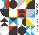 geometrical artwork with simple ... | Shutterstock .eps vector #1674451540
