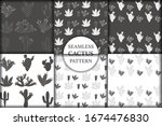 set of seamless pattern with... | Shutterstock .eps vector #1674476830