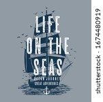 t shirt graphic print nautical... | Shutterstock .eps vector #1674480919