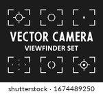 Camera frame viewfinder screen icon. Focus icon. Camera autofocus set of icons.