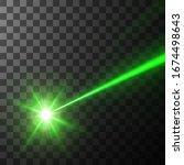 green laser beam. vector... | Shutterstock .eps vector #1674498643