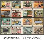 car spare parts  maintenance... | Shutterstock .eps vector #1674499930