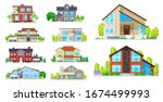 house building vector icons.... | Shutterstock .eps vector #1674499993