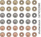 fashion elements  round metal... | Shutterstock .eps vector #1674512080