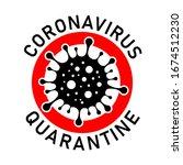 coronavirus quarantine sign.... | Shutterstock .eps vector #1674512230