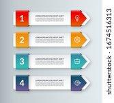 modern minimal arrow elements...   Shutterstock .eps vector #1674516313