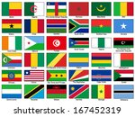 africa flags vector set | Shutterstock .eps vector #167452319