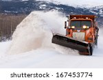 Snow Plough Truck Clearing Roa...