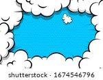 comic book cartoon speech...   Shutterstock .eps vector #1674546796