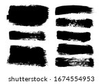 vector brush stroke. grunge... | Shutterstock .eps vector #1674554953