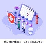 covid 19 virus doctor nurse...   Shutterstock .eps vector #1674566056