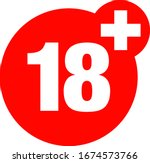 a eighteen years over icon  | Shutterstock .eps vector #1674573766