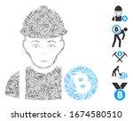 dash mosaic based on bitcoin... | Shutterstock .eps vector #1674580510