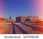 railroad tracks going to... | Shutterstock . vector #167458130