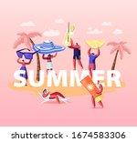 summer time season concept.... | Shutterstock .eps vector #1674583306