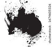 ink splash. brush stroke... | Shutterstock .eps vector #1674605326