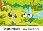 cartoon scene with different... | Shutterstock . vector #1674635779